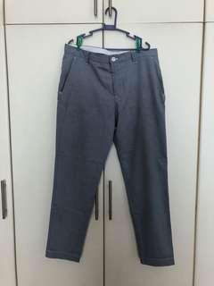 Zara Man Line Pants Blue