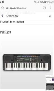 (Final Sale price! Best deal! Marked down!) Yamaha PSR-E253 Portable Keyboard