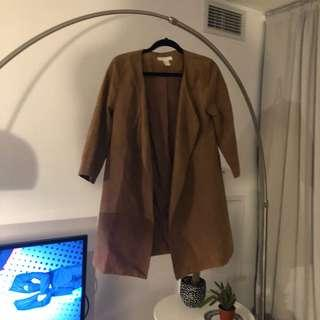 Camel colored suede coat