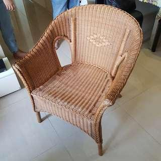 Genuine Rattan Chair (Price lowered, last call)
