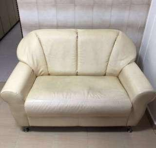 2 Seater Sofa Synthetic / Faux Leather For Clearance Sale