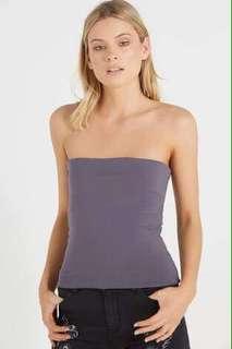 Medium Strapless Purple Top