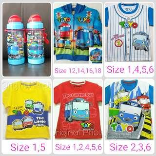 BN Tayo the Little Bus Tshirt Jacket with hoodie Water Bottle Goodie Bag for birthday or any event celebration