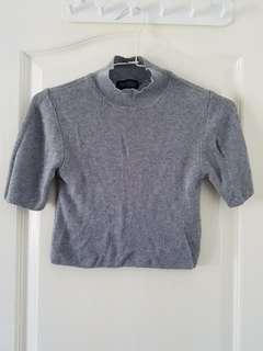 Topshop knit cropped top
