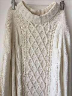 日本 w closet 白色 冷衫 毛衣 white sweater