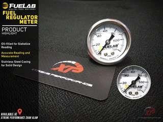 Fuelab fuel regulator pressure meter 1