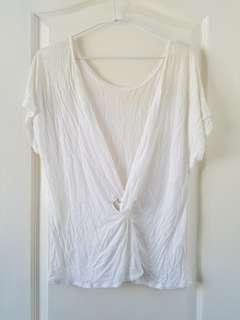 Ba&sh knit top with knot at back