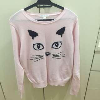 Forever 21 cat sweater