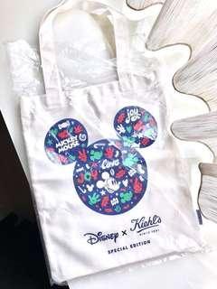 全新正貨 Kiehl's x Disney 聖誕限量 迪士尼 聯名帆布袋