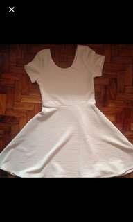 Nude Skater Dress
