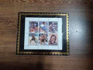 1998 Batumi stamps on World's Famous Basketballers
