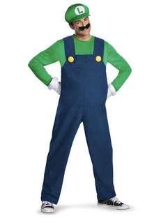Men's Luigi Halloween Costume Size Large