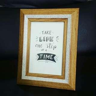 Tabletop Inspirational Frame wood