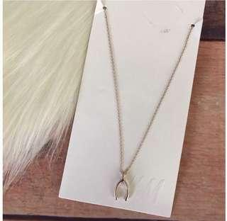 Brand New Auth H&M Wishbone Pendant Necklace