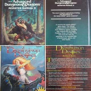 AD&D Monster Manual 2 + TSR Forgotten Realms Demihuman Deities