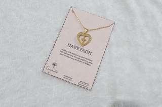 Have faith necklace (10k gold)