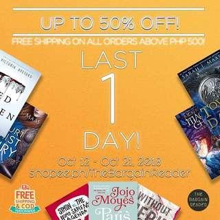 BOOK SALE LAST DAY!
