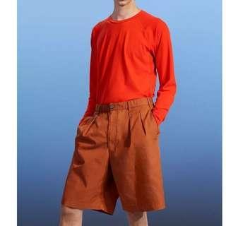 uniqlo lemaire 短褲 寬褲 L