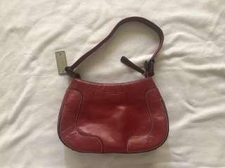 Kenneth Cole Red Leather Mini-handbag