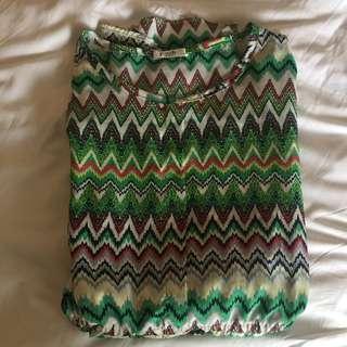 Aztec Print Drawstring Dress