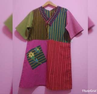 Dress lurik perca