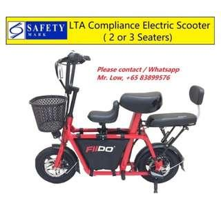 Fiido Electric Scooter (2 or 3 Seats, LTA Compliance)