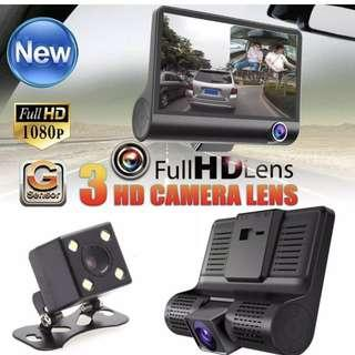 Car Camera - 3 camera lens, Complete Set as Per Photo, New, Ready Stock for Immediate Collection (no need to pre-order)