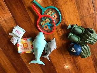 Mixed toys. Take all.good condition.