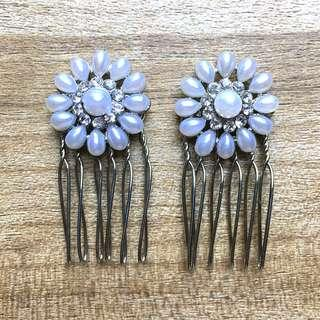 Pearl flower hairclip / hairpin [TO BLESS]