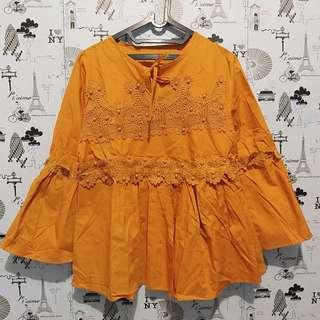Lace top in orange