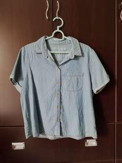 Cotton On Denim Cropped Shirt