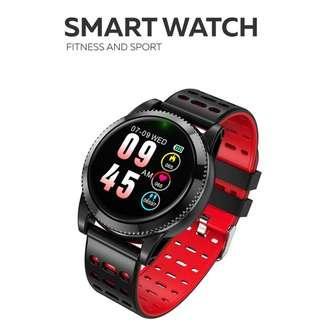 全防水 智能手錶 兩條錶帶- WHATSAPP WECHAT FB IG 信息提示/來電顯示/遙控音樂/血壓,心率監測/卡路里計算 /計步器/睡眠監測 Bluetooth smart watch IP67 (紅色)