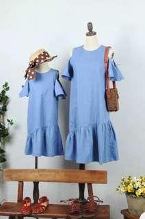 🚚 Instock twinning dress 4-10 yrs old & adult