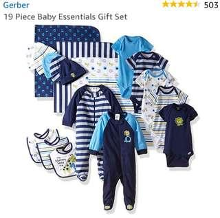 🚚 Gerber 19 piece set Baby Boy clothes