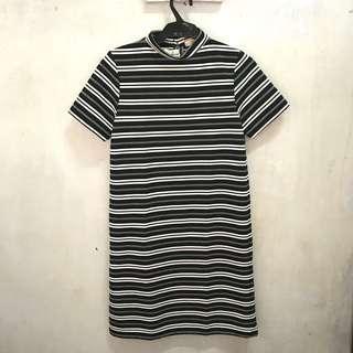 BNWT Black and White Striped Dress