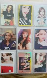 Twice mina photocards