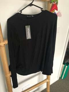 Long Sleeve Black Top. BNWT!