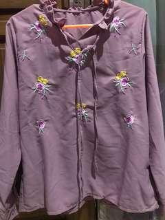 Blouse flower warna salem