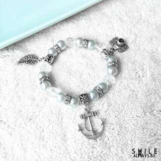 Blue Diamonde Beads Bracelet