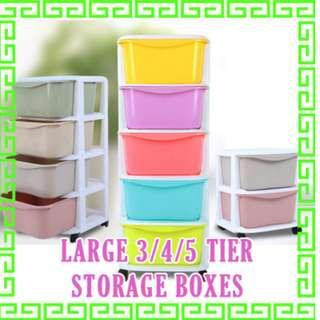 Brand New in stock Large Storage Boxes shelf drawer