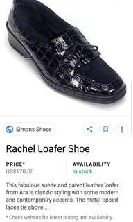 Ara Rachel Black Patent Leather & Suede Shoes