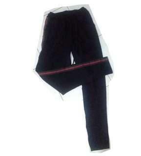 Black Gucci-inspired Track Pants