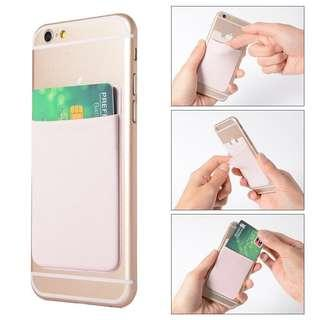 🚚 💳BN INSTOCK Assorted Colors Adhesive Elastic Card Holder