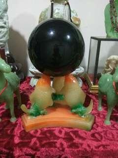 Very big black crystal ball cheap sales