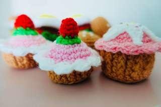 🚚 Strawberry Cupcake Mini Crochet