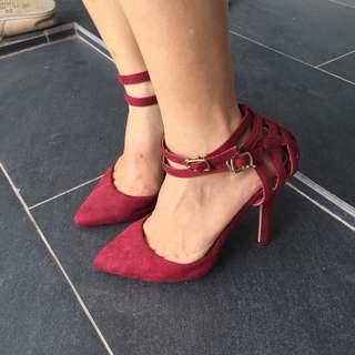 Zalora sidewalk sexy Red High Heels