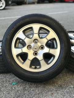 Original sports rim vios 14 inch tyre 95%
