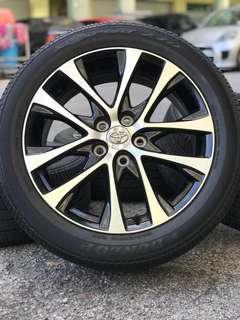 Original estima facelift 18 inch tyre 80%