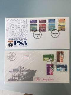 Singapore stamp 1st day covers ,Psa )