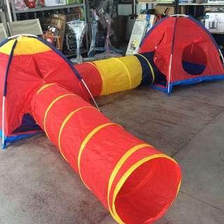 2 Tent 2 Tube Play Crawl Play Set